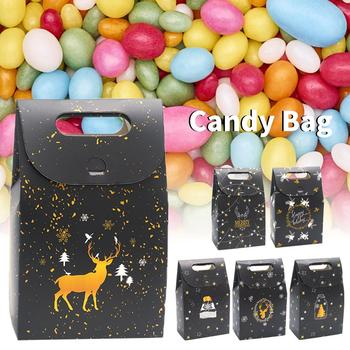 Candy Bag Night Sky Deer Paper Christmas Gift Box Chocolate Company Holiday To Employees Or Customers - discount item  26% OFF Festive & Party Supplies