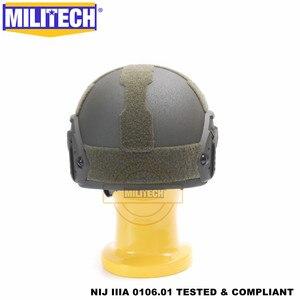 Image 5 - MILITECH Ballistic helmet FAST OD Deluxe Worm Dial NIJ level IIIA 3A High Cut Twaron Bulletproof Helmet With 5 Years Warranty