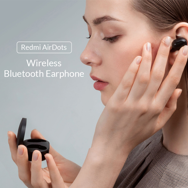 Xiaomi Redmi AirDots In Ear Bluetooth 5.0 Charging Earphone Wireless Bass Stereo Earphones With Mic Handsfree Earbuds AI Control 1