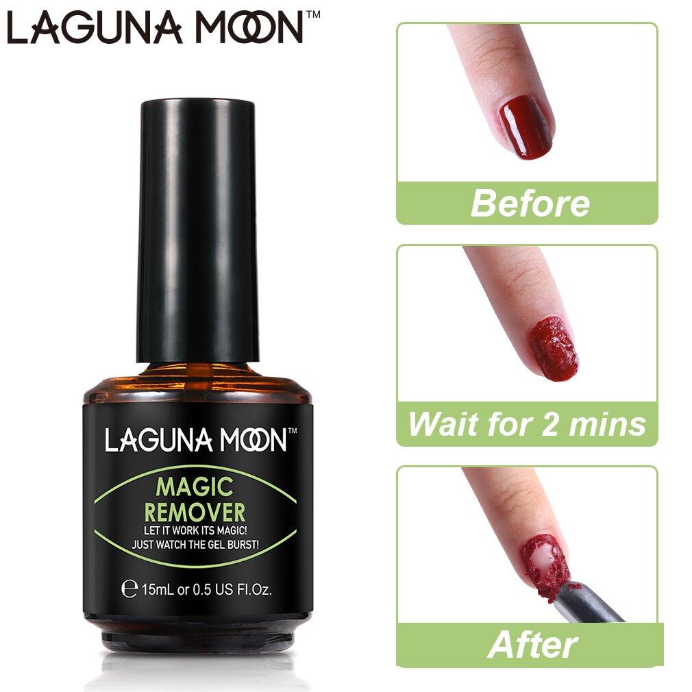 LAGUNA MOON Magic Remover 15Ml Nail Polish Remover For Manicure Cleaner Nail Degreaser UV Gel Nail Polish Remover