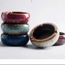 Китайский стиль пепельница керамика круглый пепельницы Пепельница держатель высокая температура термостойкая круглая для сигарет держатель аксессуары