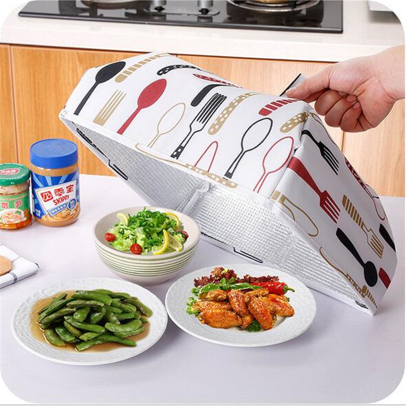 food insulation cover Foldable Food Cover Keep Warm Hot Aluminum Foil Food Cover Dishes Insulation Useful Kitchenware tableware