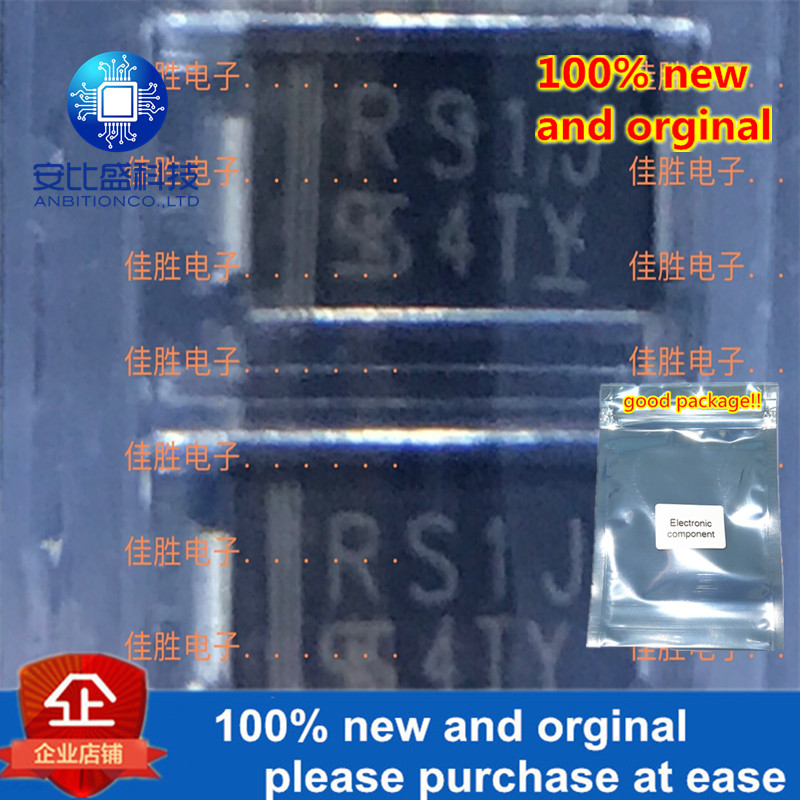 100pcs 100% New And Orginal  RS1J 1A600V Fast DO214AC   In Stock