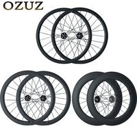OZUZ A165SBT/A166SBT Front Rear 38 50 88mm Road Bike Wheels Carbon Wheels Track Fixed Gear Single Speed 23mm Wide Carbon Road