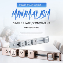 цены Track Socket 60CM Aluminum Alloy Track Wall Socket 3 Colors 8000W With switch Electrical Plug Socket Power Outlet 110V-250V