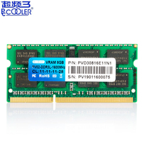 Pccooler original DDR3 DDR3L Laptop notebook Memory RAM 4GB 8GB 1600MHz 1.35V PC3L 12800S Memory