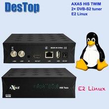 Axas Zijn Twin DVB S2/S Hd Enigma 2 Satelliet Tv Ontvanger Wifi + Linux E2 Open Atv H.265 Tv doos