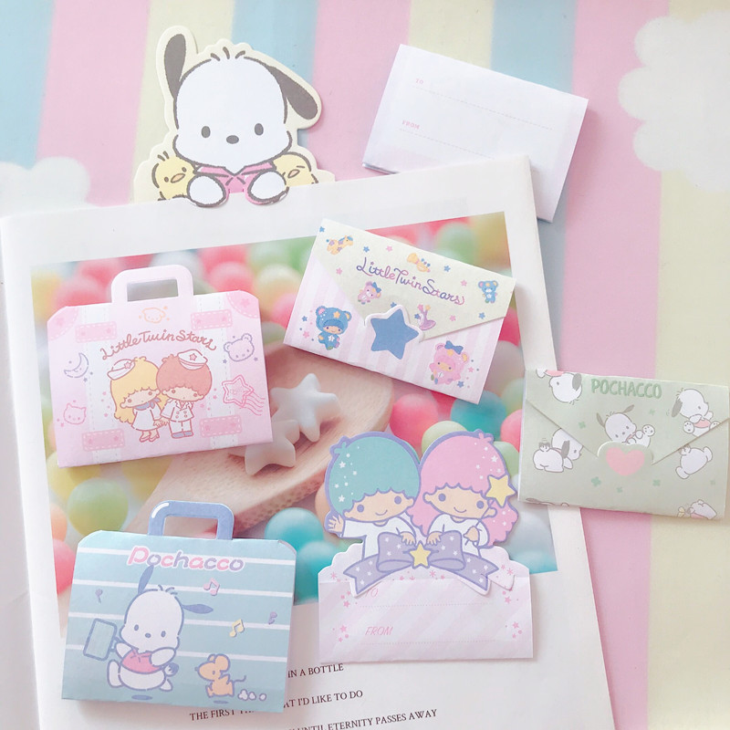 Kawaii Cartoon My Melody Greeting Cards With Envelope Pudding Dog Post Card For Birthday Christmas Party Wedding Decoration