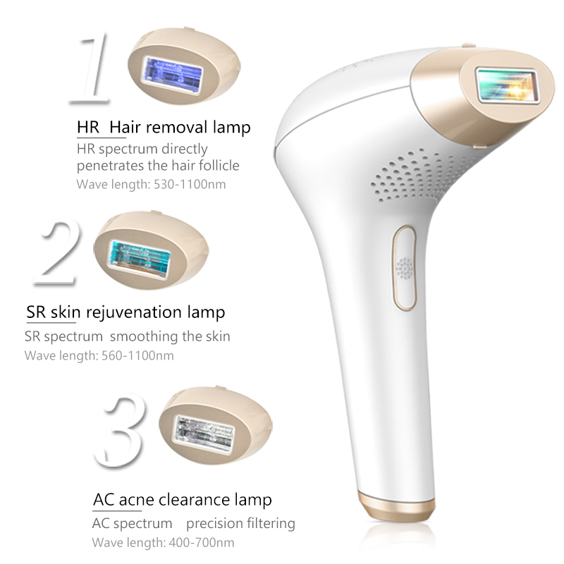 Image 3 - 3 in 1 500000 pulsed IPL Laser Hair Removal Device Permanent Hair Removal IPL laser Epilator Armpit Hair Removal machine-in Epilators from Home Appliances
