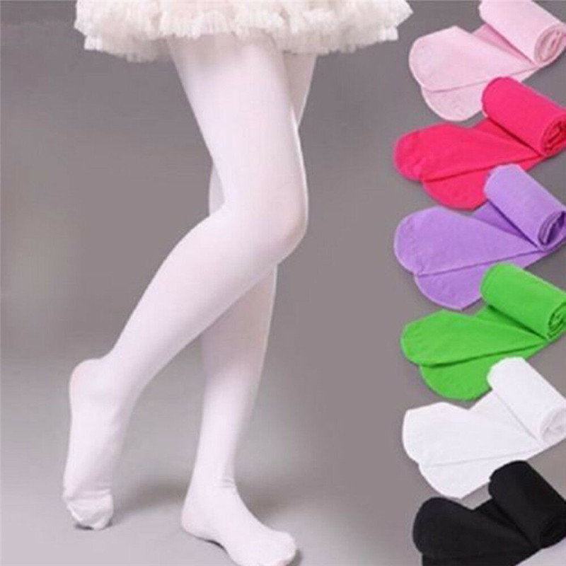 Kids Baby Girl Tights Pantyhose Hosiery Ballet Dance Tights Opaque Candy 9 Colors For 4 To 12 Years