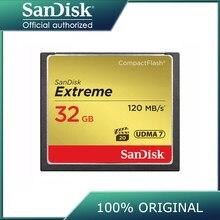 Sandisk – carte mémoire Flash pour appareil photo, extrêmement compacte, 32 go 64 go 128 go, vitesse de lecture jusqu'à 120 mo/s, pour vidéo 4 K et Full HD