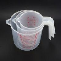 250/500/1000 мл Пластик мерный стакан из твердого английского фарфора носика поверхности кухонный инструмент, принадлежности качество чашка с г...