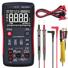 BSIDE Digital Multimeter True RMS 9999 Zählt 3 Linie Display Analog Tester Voltmeter Kondensator Temp Meter Amperemeter Besser RM409B