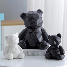Statue Sculpture Figurine Accessories Resin Room Decoration Modern Geometric Vintage Abstract Decor Artware Bear