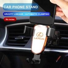 1 pçs suporte do telefone carro gravidade sensing ventilação de ar montagem suporte acessórios para lexus es300 rx330 rx300 gs300 is250 is200 ct200h