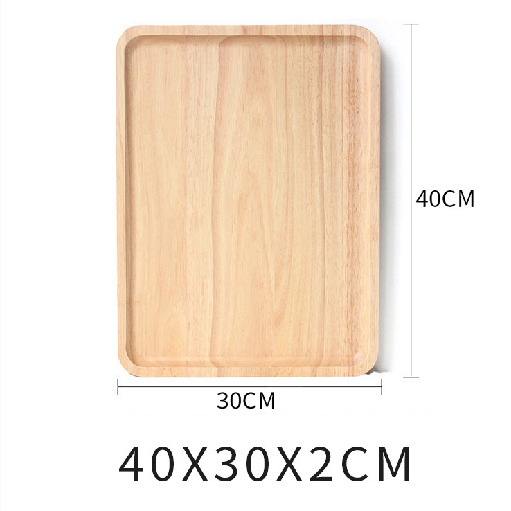 Wooden Round Storage Tray Plate Tea Food Dishe Drink Platter Food Plate Dinner Beef Steak Fruit Snack Tray Home Kitchen Decor - Цвет: 15