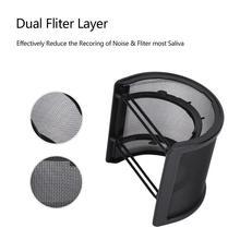 Небольшой многослойный u-образный Микрофон Студийный защитный микрофон маска для защиты от лобового стекла антимикрофонный металлический гибкий фильтр