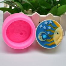 Sun and Moon Handmade Soap Silicone Mold DIY Baking Cake Fondant Decoration Epoxy Mould