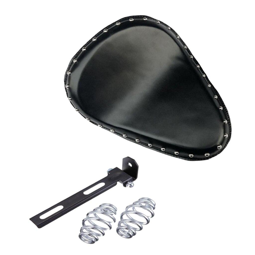 Selle noire de siège Solo de haute qualité avec ressorts de siège et support pour la plupart des motos