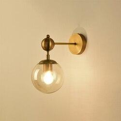 Przemysłowe lampy ścienne led szklane światła kryty nowoczesne lustro łazienkowe metali lekkich klasyczne oprawy ścienne czytanie korytarz złota
