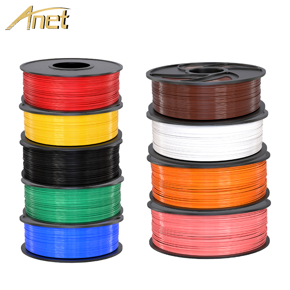 Anet 1.75mm PLA Filament 0.5kg/1kg ABS Printing Materials Supplies For 3D Printer 3d Pen Filament Plastic Sublimation Blanks