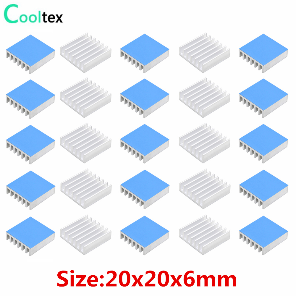 100pcs 8.8*8.8*5mm Ram Heatsink Aluminum Chip Aluminum Heat Sink Radiator Cooler