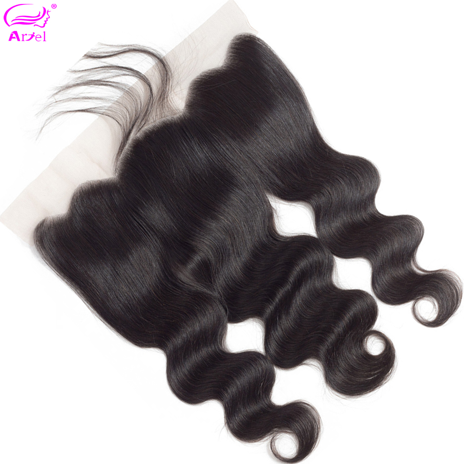 Closure Frontal Human-Hair Body-Wave Swiss Indian 20inch Non-Remy 134 Ear-To-Ear