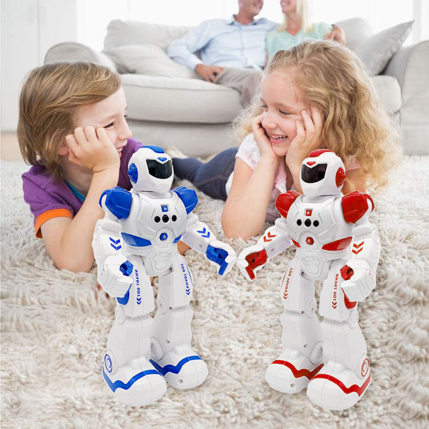 Intelligent Robot Toy RC Control Gesture Sensor Action Display Singing Dancing USB Charging Kids Birthday Gift