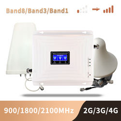 900 1800 2100 mhz Telefono Cellulare Ripetitore Tri Band Mobile Amplificatore di Segnale 2G 3G 4G LTE Cellulare ripetitore GSM DCS WCDMA