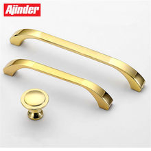 Luxury Style Bedroom Furniture Closet Drawer Gold Handle Aluminum Alloy Modern Cabinet Shoe Rack Pull Wine Cabinet Knobs(China)