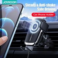 Joyroom-Soporte de teléfono Qi de 15W para coche, cargador de coche inalámbrico, Alineación automática, montaje de ventilación de aire CD, Universal