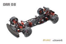 SN RC DRR 02 DRR02 1/10 2WD زاوية كبيرة التوجيه بعد محرك السيارة الانجراف