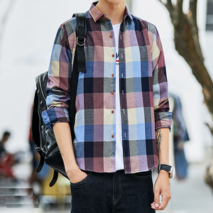 Image 2 - Ekose gömlek erkekler uzun kollu gömlek Casual sosyal Slim gömlek erkek pamuk Mens elbise gömlek 4XL 5XL okunabilir