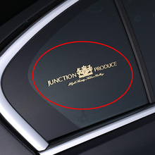 1 peça de níquel metal jp vip pilar janela do carro guarnição adesivo traseiro pára brisas decalques automóveis estilo do carro acessórios