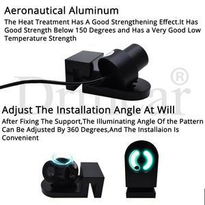 Image 3 - 2X araba melek kanatları karşılama ışık gölge ampul atmosfer lamba araba LED kapı uyarı ışığı rüya tüm araç DC 12V 24V park LED