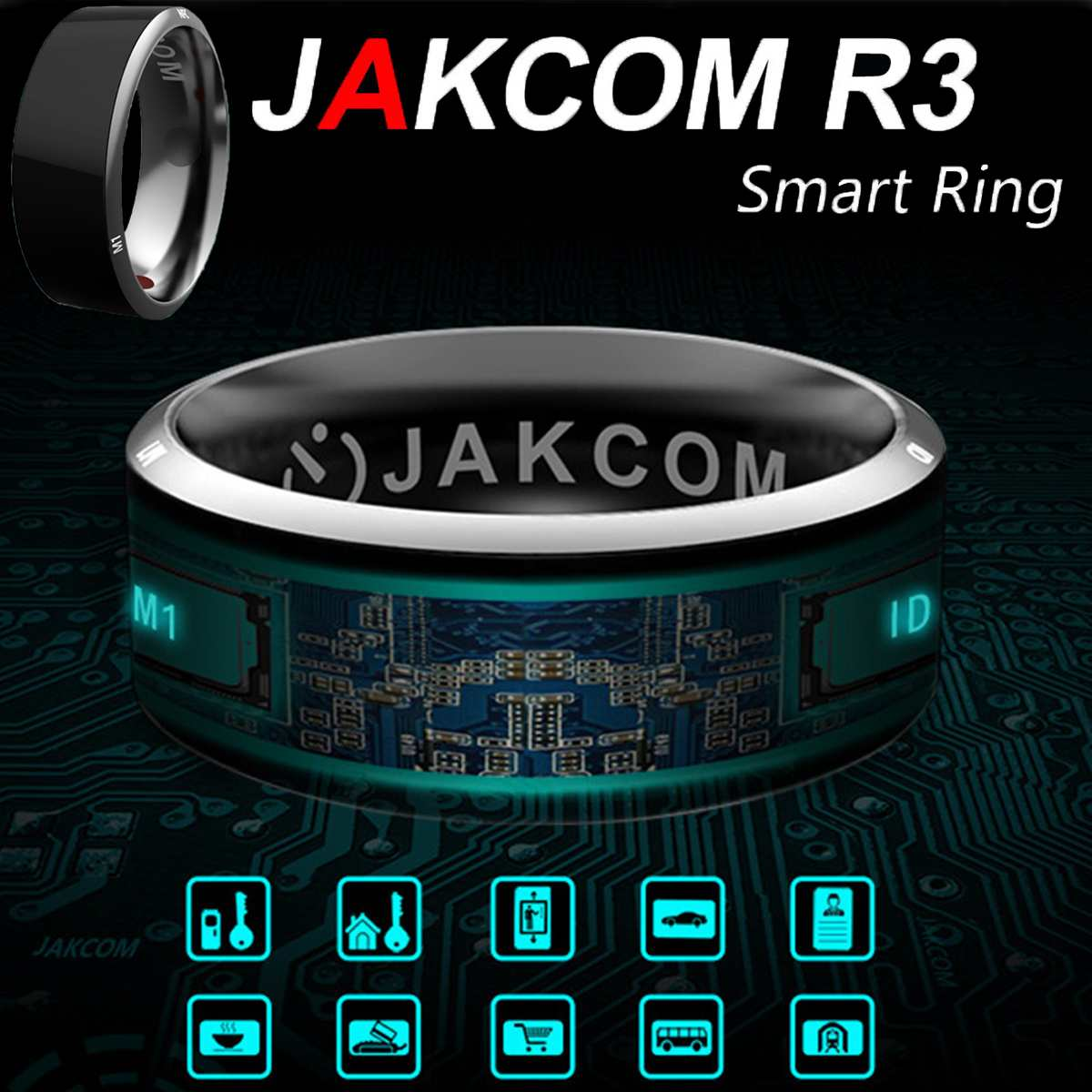 Smart-Ring Finger-Wear Wearable NFC Mobile-Phone Android for IOS Windows R3 Magic title=