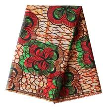 אפריקה אנקרה הדפסת טלאי בד שעווה אמיתית Tissu אפריקה תפירת חומר עבור שמלת קרפט DIY אבזר השמפניה 100% כותנה