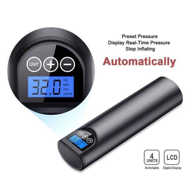 12V 150PSI Rechargeable pompe à Air pneu gonfleur sans fil Portable compresseur numérique voiture pneu pompe pour voiture vélo pneus balles 5