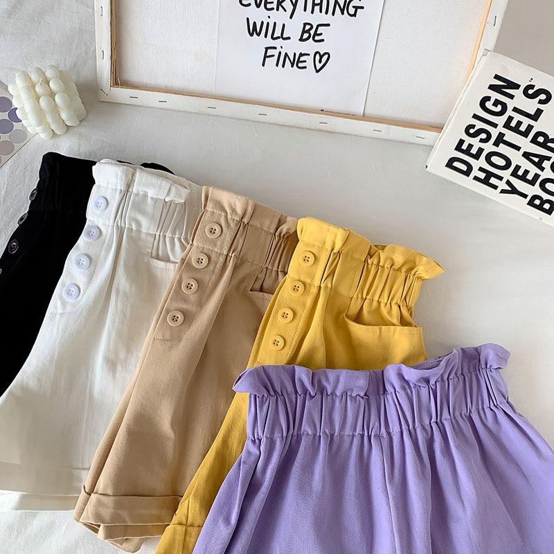 Cotton Wide Leg Shorts For Women    -  1mrk.com
