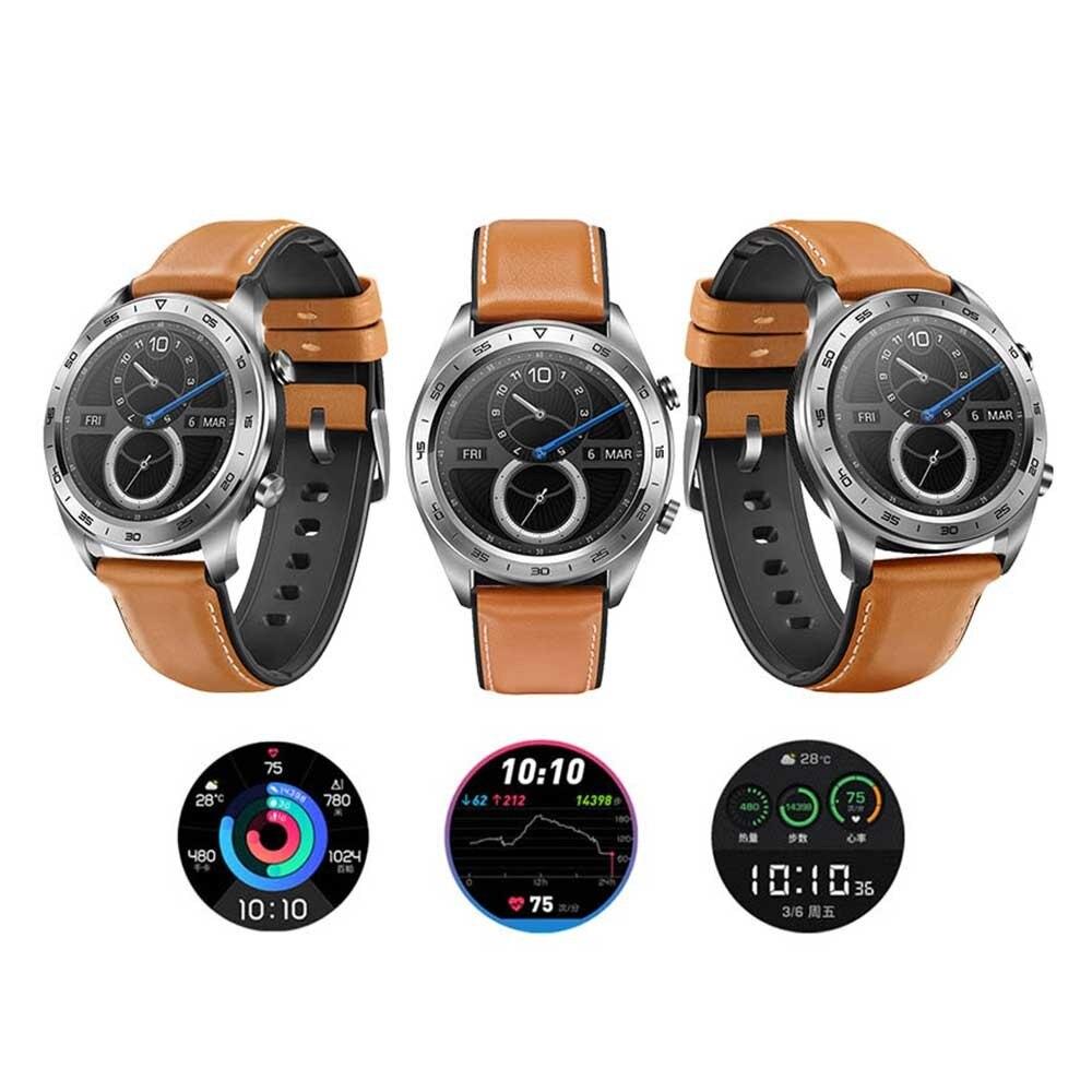 원래 화웨이 명예 스마트 시계 매직 스마트 스포츠 수면 실행 사이클링 수영 gps 피트니스 트래커 1.2 인치 명예 시계 꿈