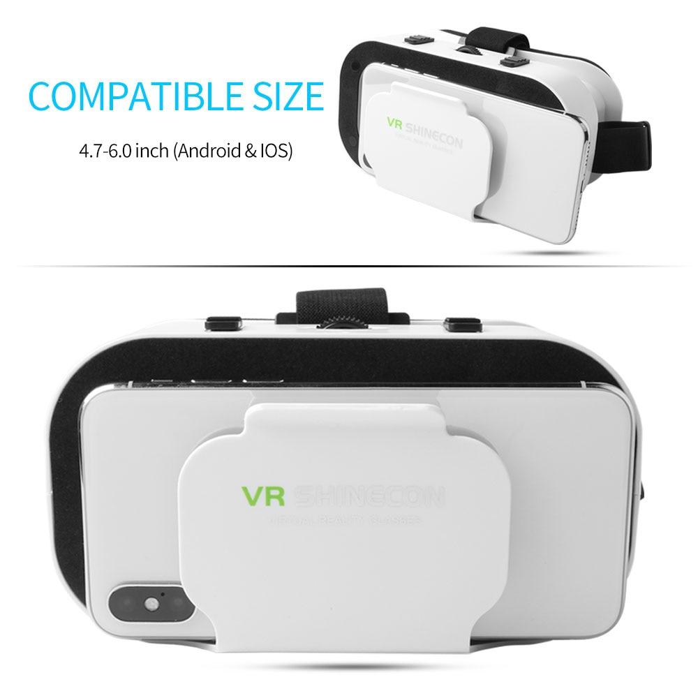 5.0 VR Virtual Glasses Reality 3D VR Glasses Smartphone Box Stereo Headset Helmet For IOS VR Glasses Android Rocker Googles Mini 2