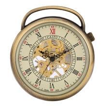 Бронзовые винтажные Механические карманные часы с открытым лицом