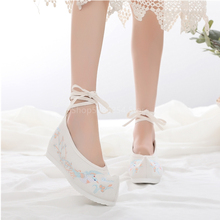 Traditional Ancient Chinese Floral Embroidered Shoes Women Hanfu Stage