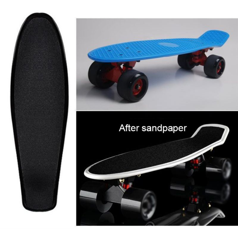 Protable Skateboard Sticker Solid/Printed Anti-slip Waterproof Adhesive Single Rocker Sandpaper For Penny Board