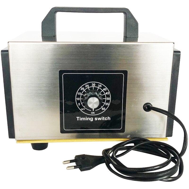 EU 220v 10g/20g/h Ozone Generator Machine Portable Air Purifier Aiir Purifier Ozonizador O3 Deodorant Disinfection Timing