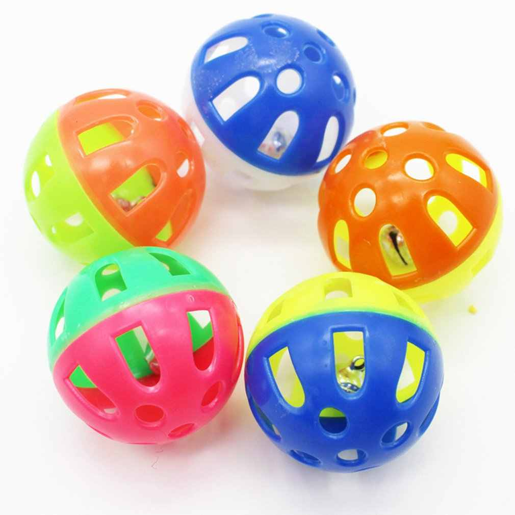 Pet Dog Toys Sound Squeak Toys Plastic Bell Ball Antidepressant Toy For Small Dogs Portable Pet Supplies