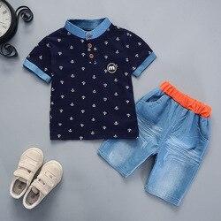 Bibicola bebê meninos verão conjunto de roupas de manga curta t camisa + shorts 2 peças conjunto de roupas casuais algodão novo estilo meninos roupas