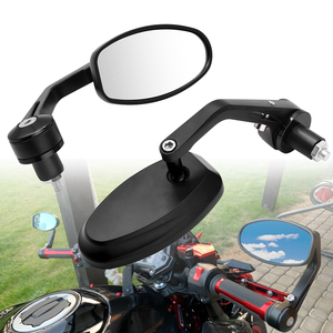 "Image 1 - אופנוע מראה לבן זכוכית ידית בר אנד Rearview צד מראה 22mm עבור הונדה MSX 125 CB650R CB125R XADV X עו""ד 750 X11 ST1300"