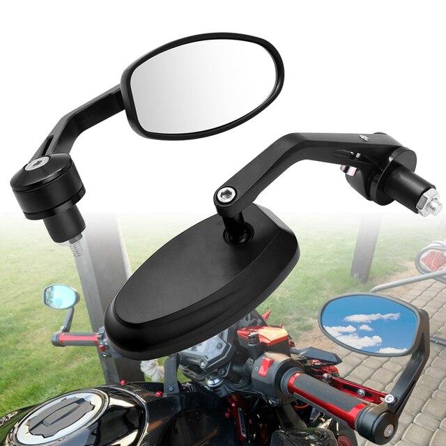 """אופנוע מראה לבן זכוכית ידית בר אנד Rearview צד מראה 22mm עבור הונדה MSX 125 CB650R CB125R XADV X עו""""ד 750 X11 ST1300"""
