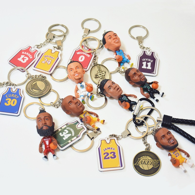 Kobe Curry James Harden Owen Basketball Doll Pendant Garage Kit Keychain Birthday Gift Related Products
